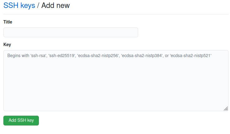 add git ssh key on github