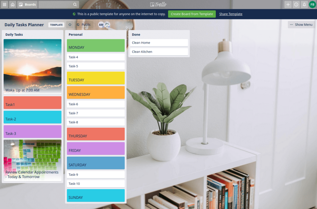trello sample board