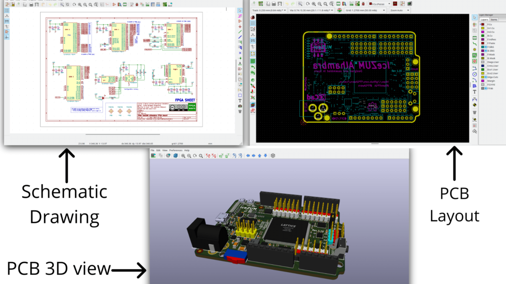 embedded design on kicad