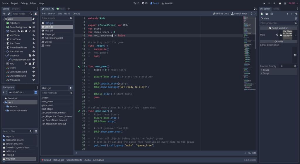 godot engine code editor screenshot
