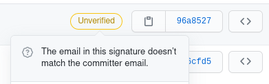 github gpg key. the email in this signature doesn't match the committer email